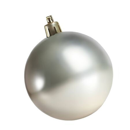 Photo pour Silver Christmas ball isolated on white background. - image libre de droit