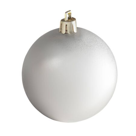 Photo pour Christmas ball isolated on white background. Close up. Traditional Xmas symbol. - image libre de droit