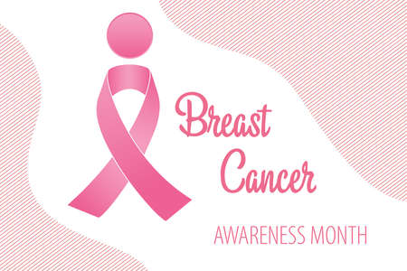 Illustration pour Background of the breast cancer awareness feed - image libre de droit