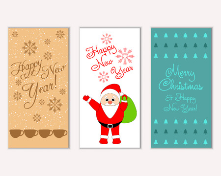 Illustration for Vector illustration of winter holidays greeting cards - Royalty Free Image