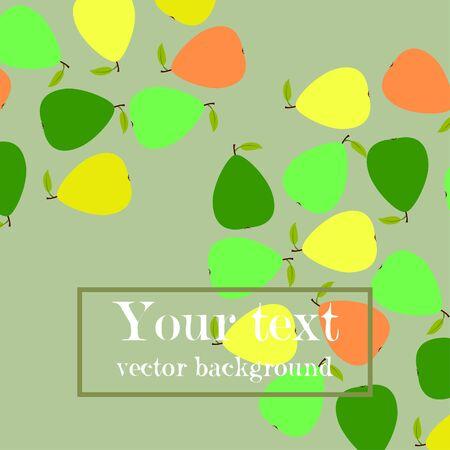 Ilustración de Vector illustration of a pear. Fresh cartoon organic fruit. - Imagen libre de derechos