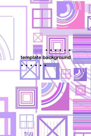 Illustration pour Abstract composition. Modern vector front page art. Round figure icon. Ad flyer. - image libre de droit