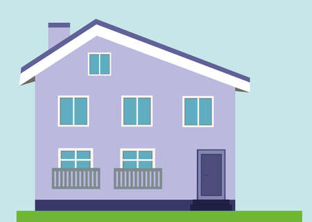 Illustration for Light purple house - Royalty Free Image