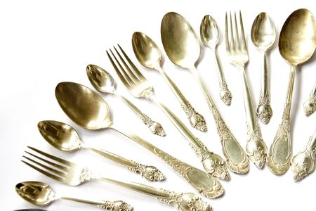 Silver Spoons, Tea Spoons and Forks Set