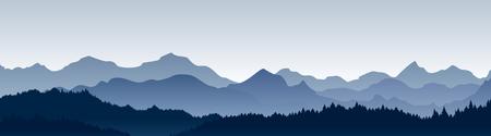 Illustration pour Vector illustration of beautiful panoramic view. - image libre de droit