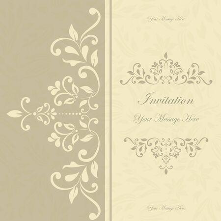 retro floral invitation card