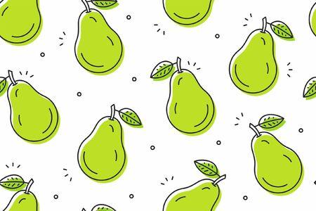 Pears seamless pattern. Vector illustration