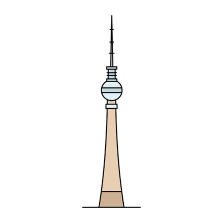 Berlin TV Tower icon. isolated on white background