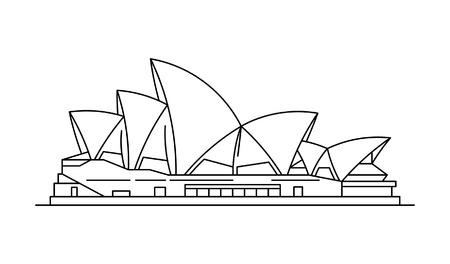 Illustration for Sydney Opera House icon. isolated on white background - Royalty Free Image