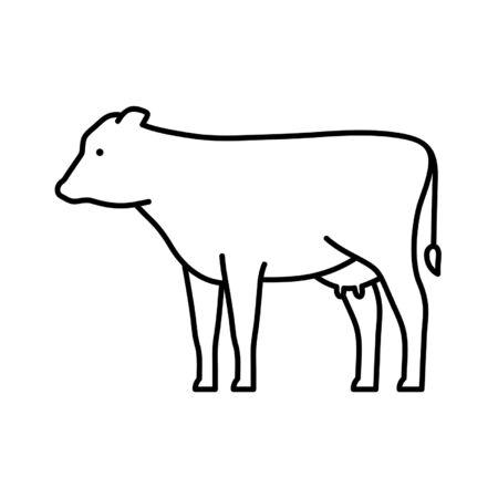 Illustration pour Cow line icon. Icon design. Template elements - image libre de droit