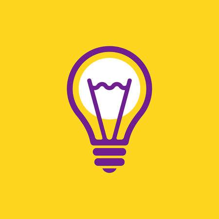 Illustration pour Light bulb logo. Icon design. Template elements - image libre de droit