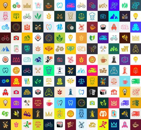 Illustration pour Logos collection. Abstract logos set. Icon design. Template elements - image libre de droit