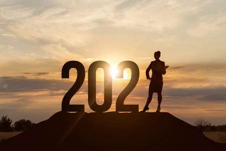Photo pour The concept of business prospects in the new 2021. - image libre de droit