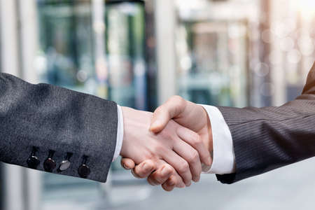 Photo for Businessmen shaking hands. Concept of cooperation and contracting in business. - Royalty Free Image