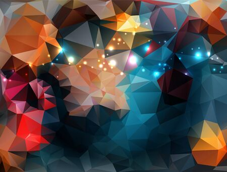 Bright abstract creative Polygon background
