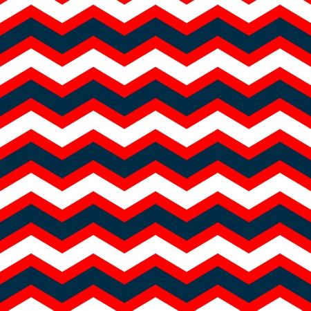 Red White Blue Chevron