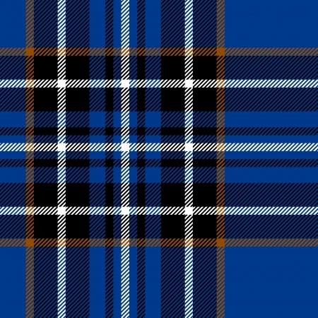 Tartan traditional checkered british fabric seamless pattern, blue and black