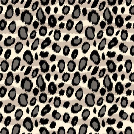Foto de Leopard print animal print seamless pattern in black and white, vector background - Imagen libre de derechos