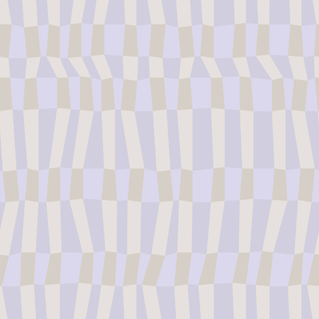 Illustration pour Gray and blue neutral colored chaotic striped geometric seamless pattern, vector - image libre de droit