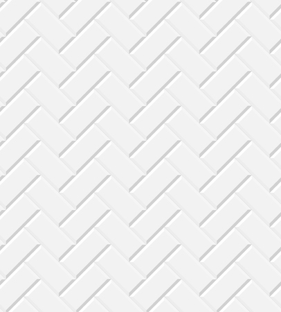 Illustration for White glossy subway tiles herringbone wall seamless pattern, vector background - Royalty Free Image