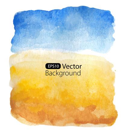 Illustration pour Summer sunny landscape. Vector background. Watercolor illustration - image libre de droit