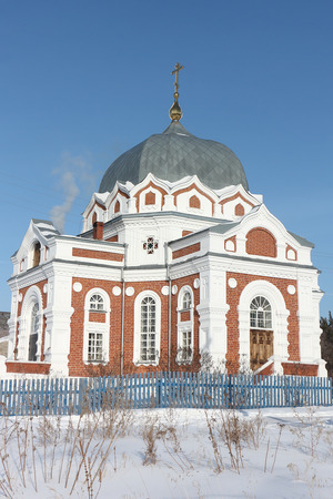 Church of the Intercession of the Most Holy Mother of God in Zavyalovo, Novosibirsk region, Russia, founded in 1897