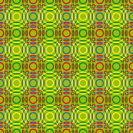 Seamless vector pattern with multicolour overlapping circles