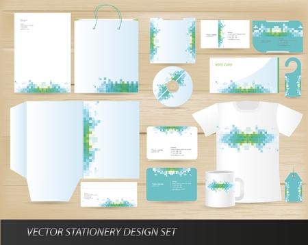 Ilustración de Vector stationery design set - Imagen libre de derechos