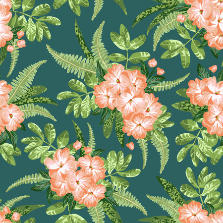 Exotic Hibiscus Pattern