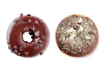 Photo pour Donuts on a white - image libre de droit
