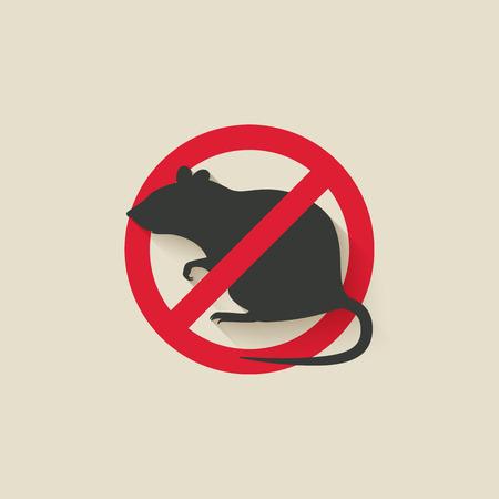 Illustration pour rat warning sign. vector illustration - eps 10 - image libre de droit