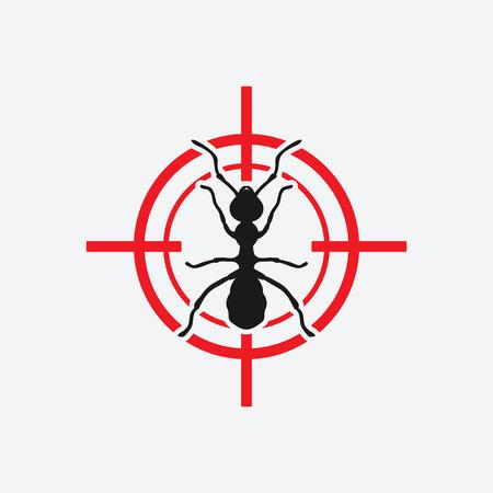 Illustration pour ant icon red target - vector illustration. - image libre de droit