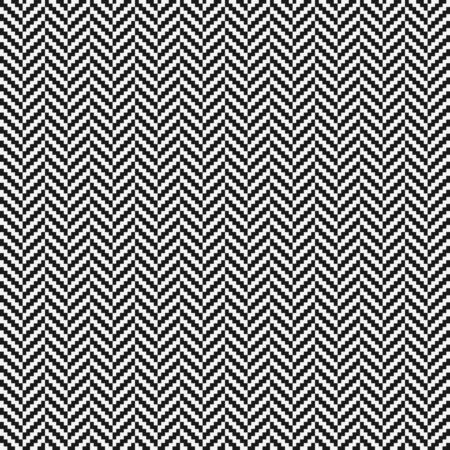 Illustration pour Black and white herringbone tweed seamless pattern. Vector illustration - image libre de droit