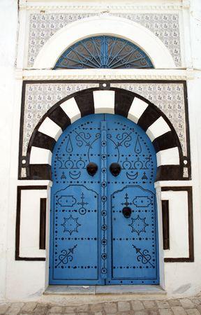 Decorative door in Sidi Bou Said, Tunisia