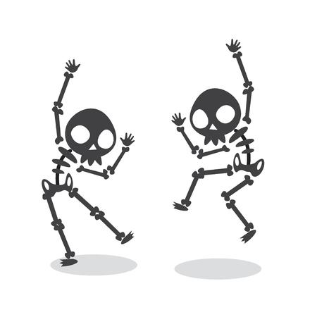 Illustration pour Funny Dancing Skeleton. - image libre de droit