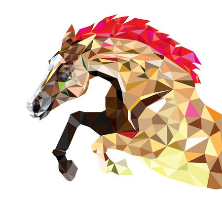 Horse in geometric pattern style.
