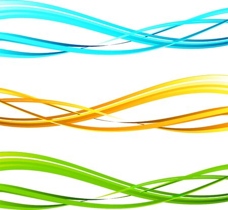 Illustration pour The vector illustration contains the image of Abstract wavy background - image libre de droit
