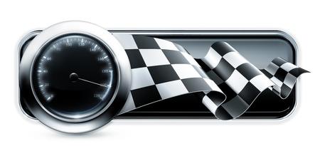 Illustration pour Racing banner - image libre de droit