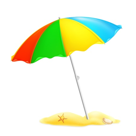 Illustration for Beach parasol - Royalty Free Image