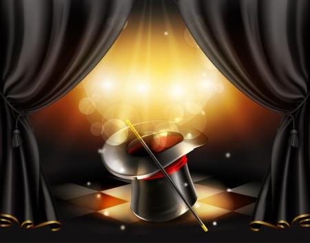 Magic tricks background