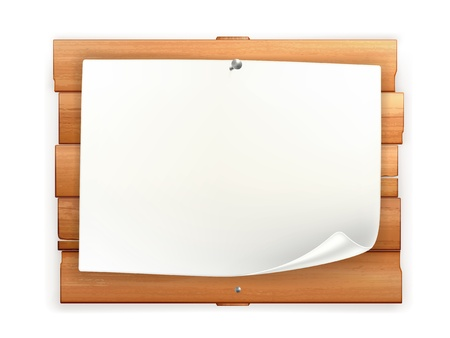 Announcement on wooden board