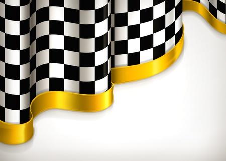 Illustration pour Checkered invitation background - image libre de droit