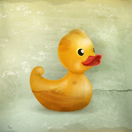Rubber duck, old style