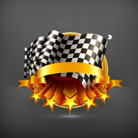 Illustration pour Racing emblem - image libre de droit
