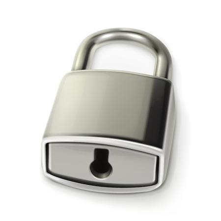Metal lock, illustration