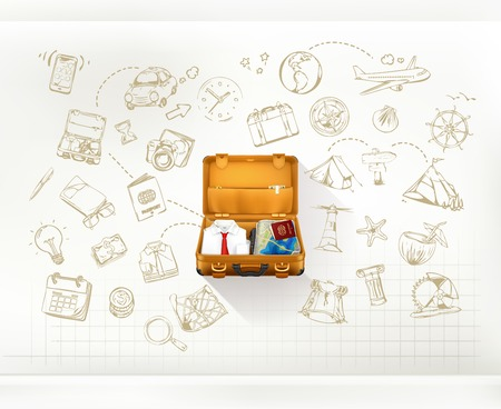 Illustration for Travel, infographics vector - Royalty Free Image