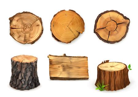 Illustration pour Wooden banner, vector - image libre de droit