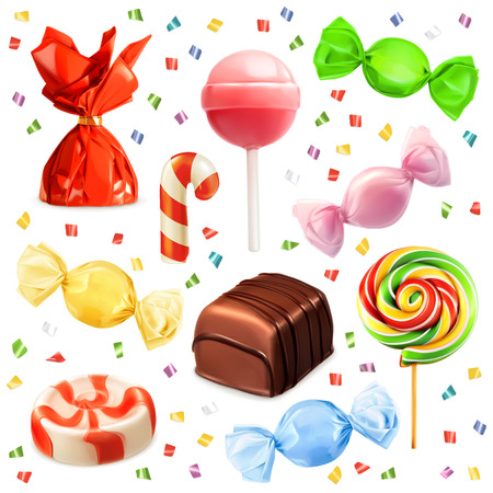 Candy set, vector icons