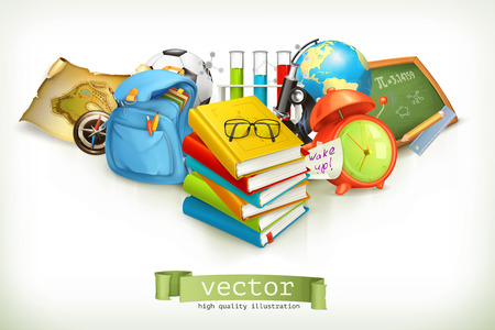 School, vector illustration isolated on white