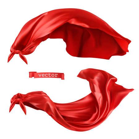 Illustration pour Superhero, red cape. 3d realistic vector - image libre de droit